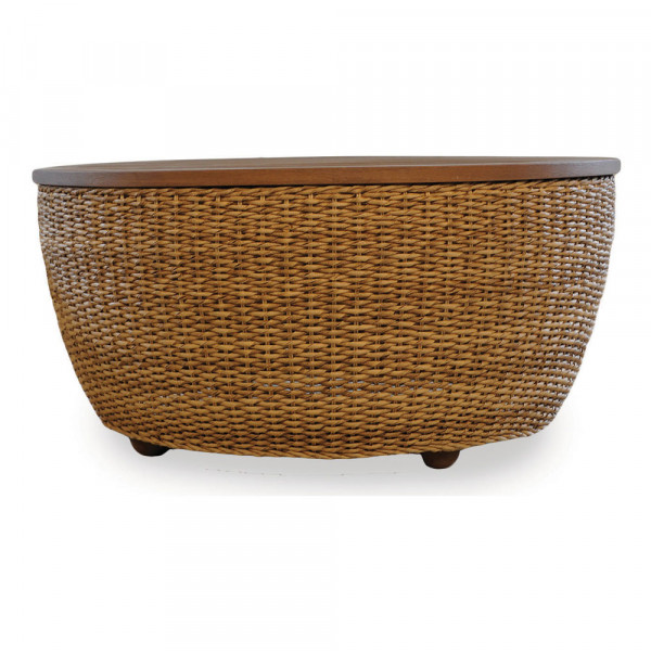 Lloyd Flanders Tobago Wicker Cocktail Table