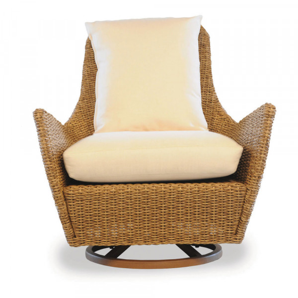 Lloyd Flanders Tobago Highback Wicker Swivel Chair