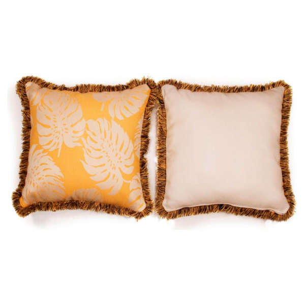 South Sea Rattan All Weather Sunshine Large Throw Pillow