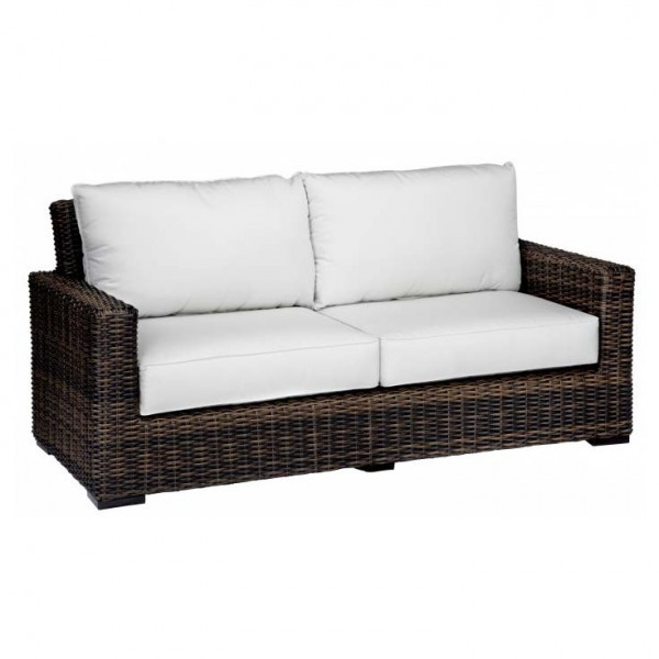 Sunset West Montecito Wicker Loveseat - Replacement Cushion