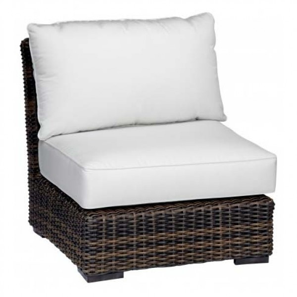 Sunset West Montecito Armless Wicker Lounge Chair - Replacement Cushion