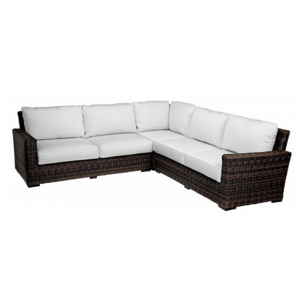 Sunset West Montecito 3 Piece Wicker Sectional Sofa - Replacement Cushion