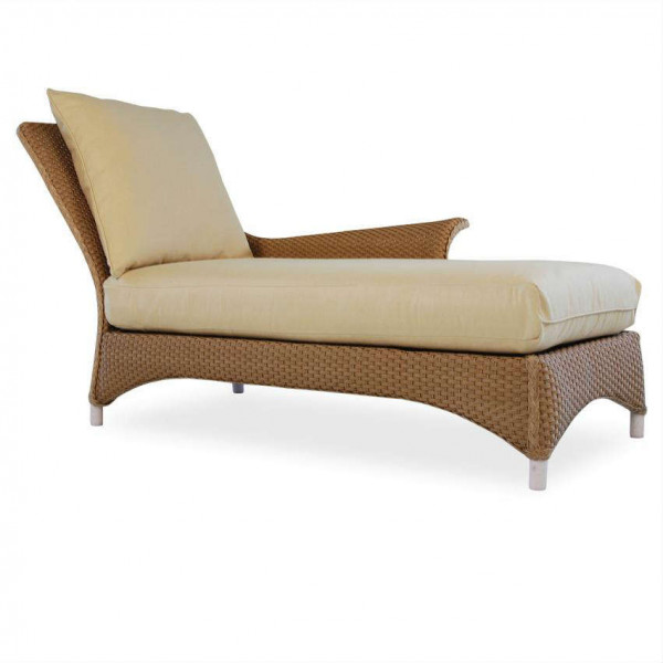 Lloyd Flanders Mandalay Right Arm Facing Wicker Chaise Lounge