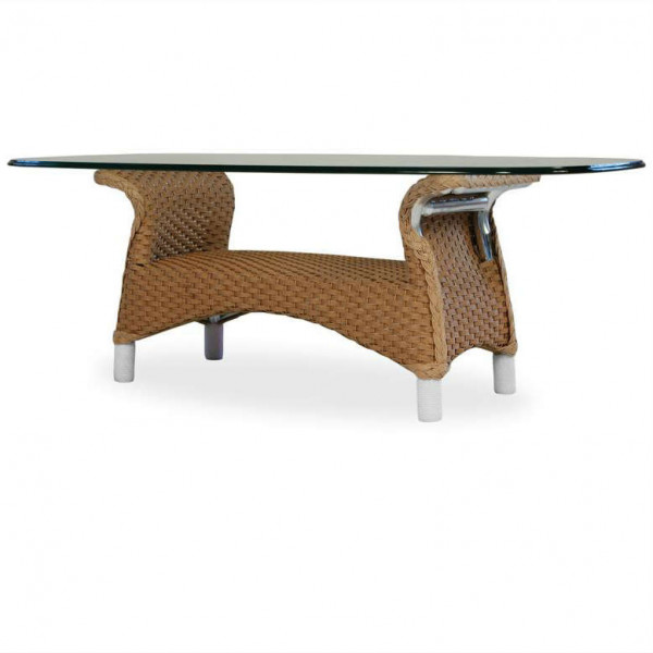 Lloyd Flanders Mandalay Wicker Cocktail Table