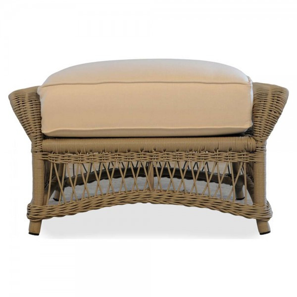 Lloyd Flanders Fairhope Wicker Ottoman - Replacement Cushion