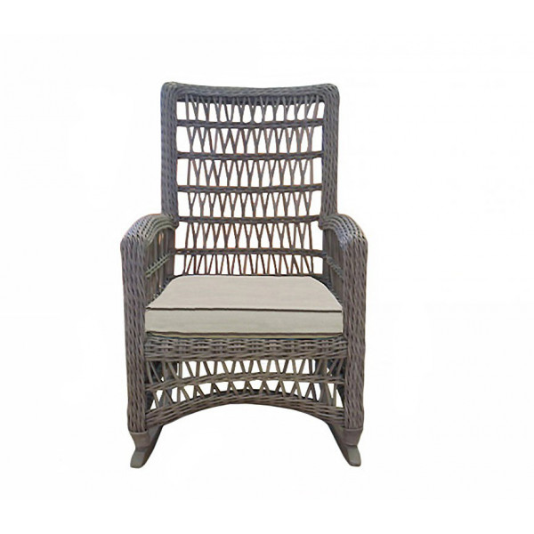 Lloyd Flanders Mackinac Highback Wicker Rocking Chair - Replacement Cushion