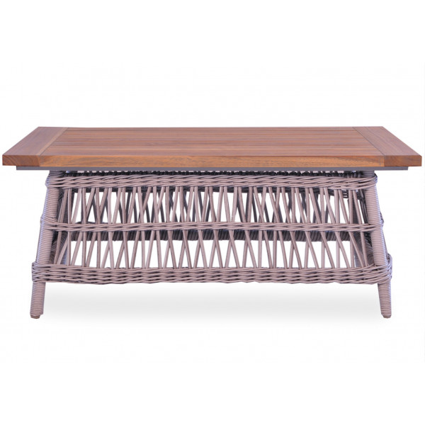 Lloyd Flanders Mackinac Rectangular Wicker Cocktail Table