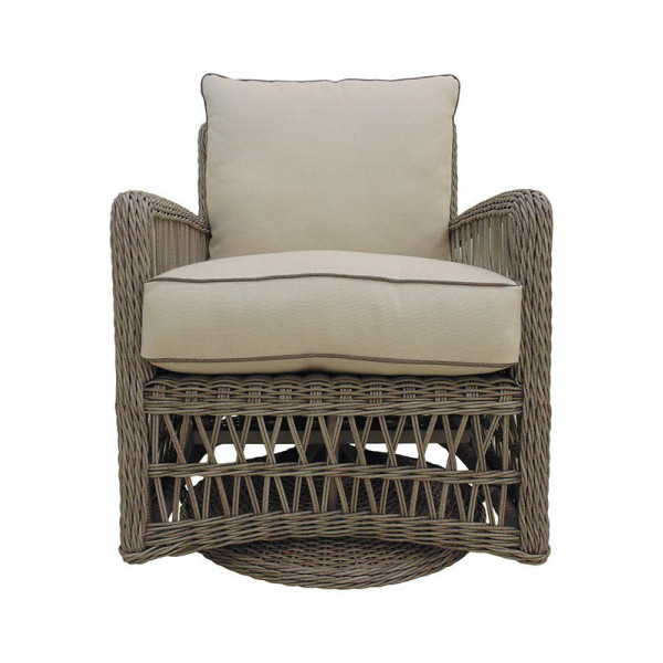 Lloyd Flanders Mackinac Wicker Swivel Glider