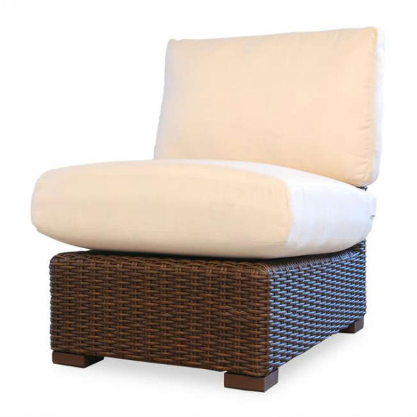 Lloyd Flanders Mesa Armless Wicker Lounge Chair