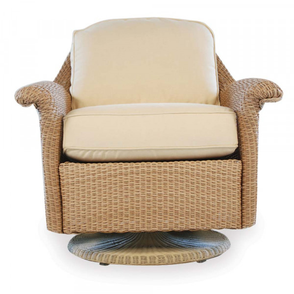 Lloyd Flanders Oxford Wicker Swivel Glider