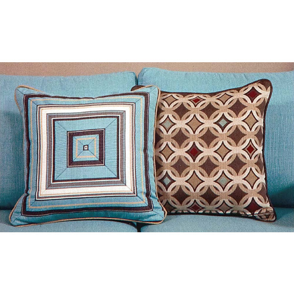 South Sea Rattan All Weather Tango Medium Throw Pillow