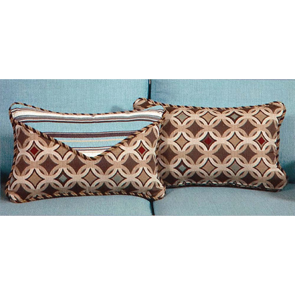 South Sea Rattan All Weather Tango Small Throw Pillow