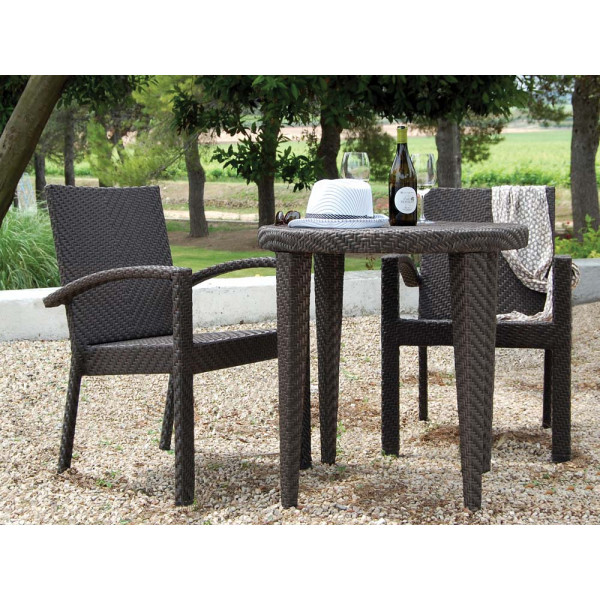 Hospitality Rattan Soho 3 Piece Wicker Bistro Set