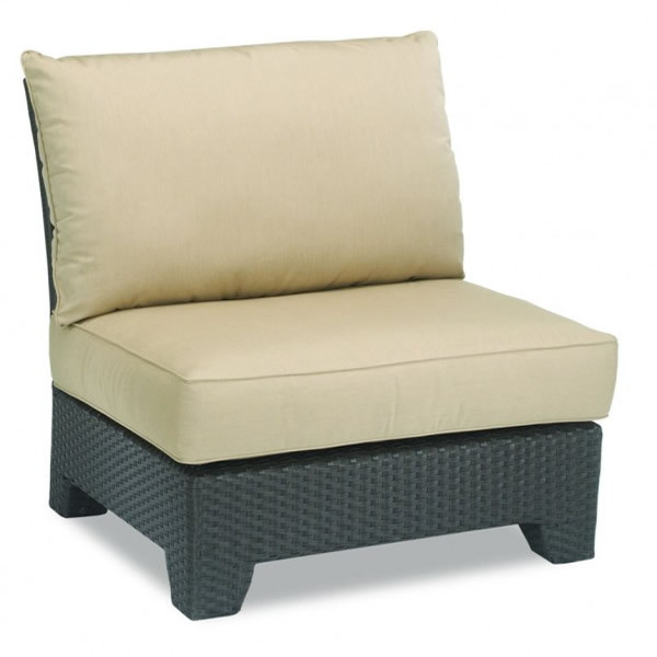 Sunset West Malibu Armless Wicker Lounge Chair - Replacement Cushion