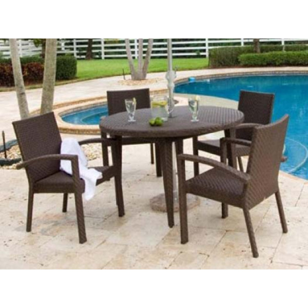 Hospitality Rattan Soho 5 Piece Wicker Dining Set