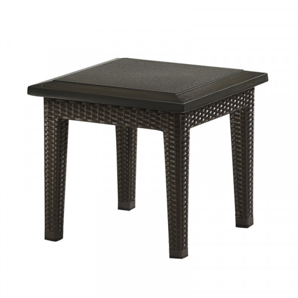Tropitone Evo Woven Wicker End Table