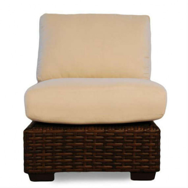 Lloyd Flanders Contempo Armless Wicker Lounge Chair