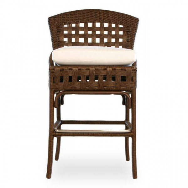 "Lloyd Flanders Haven 28"" Wicker Bar Chair"