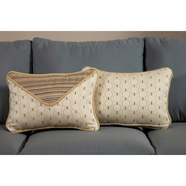 South Sea Rattan All Weather Aura Small Throw Pillow