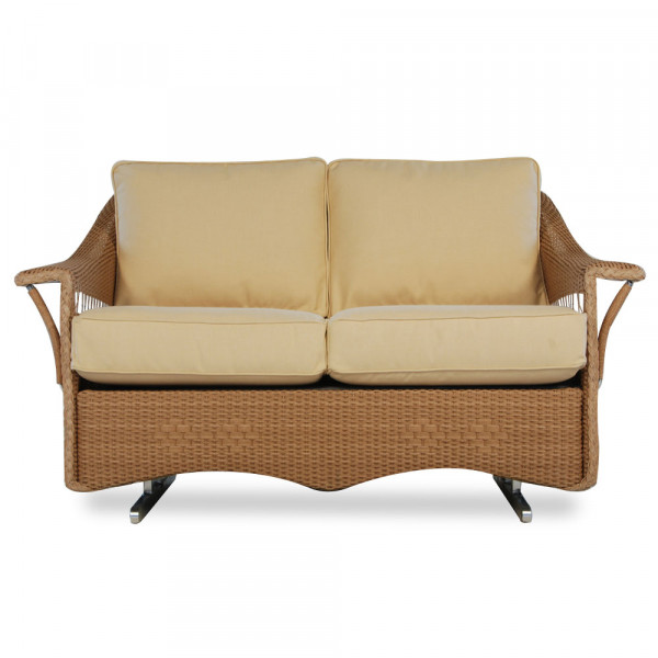 Lloyd Flanders Nantucket Wicker Loveseat Glider