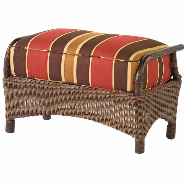 WhiteCraft by Woodard Chatham Run Wicker Ottoman  - Replacement Cushion