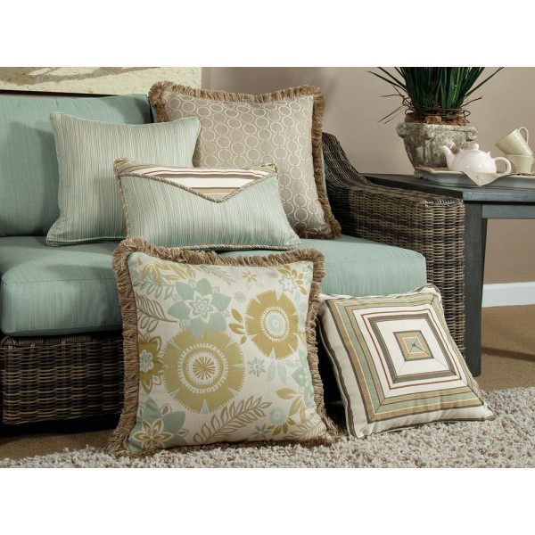 South Sea Rattan All Weather Aries 5 Piece Throw Pillow Set