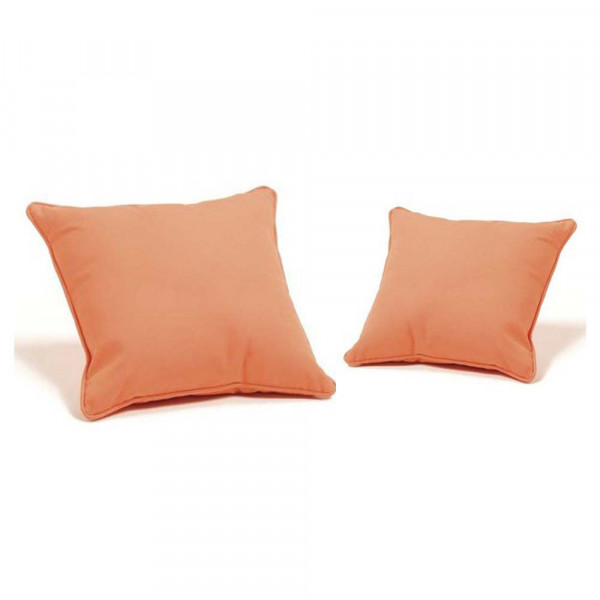Throw Pillows For Wicker Furniture : Hospitality Rattan Square Throw Pillow Pair - WickerCentral.com