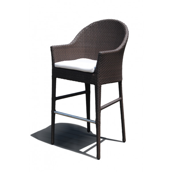 Hospitality Rattan Kenya Wicker Bar Stool