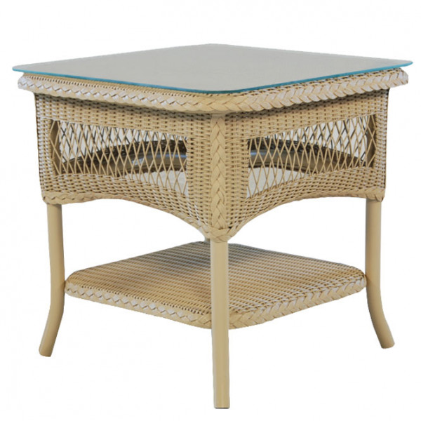 Lloyd Flanders Wicker End Table