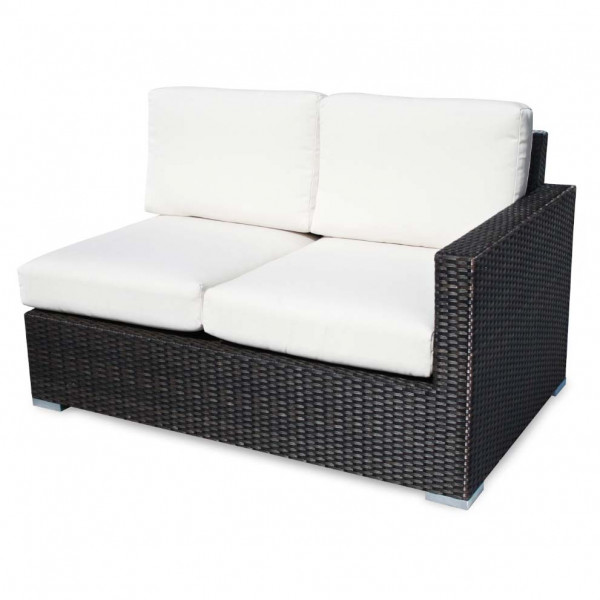 Source Outdoor Lucaya Right Arm Facing Wicker Loveseat
