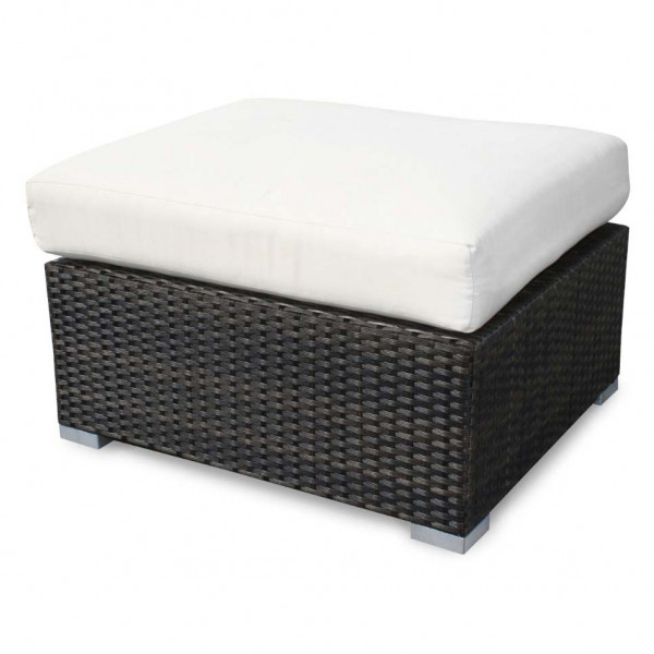 Source Outdoor Lucaya Wicker Ottoman