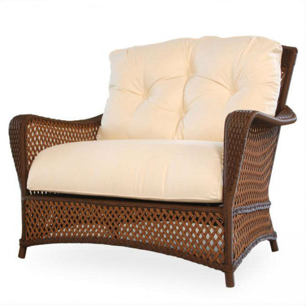 Lloyd Flanders Grand Traverse Wicker Chair and a Half