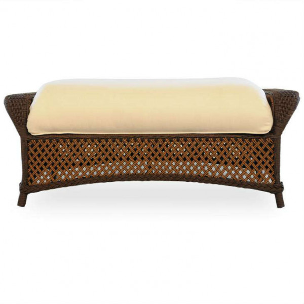 Lloyd Flanders Grand Traverse Large Wicker Ottoman