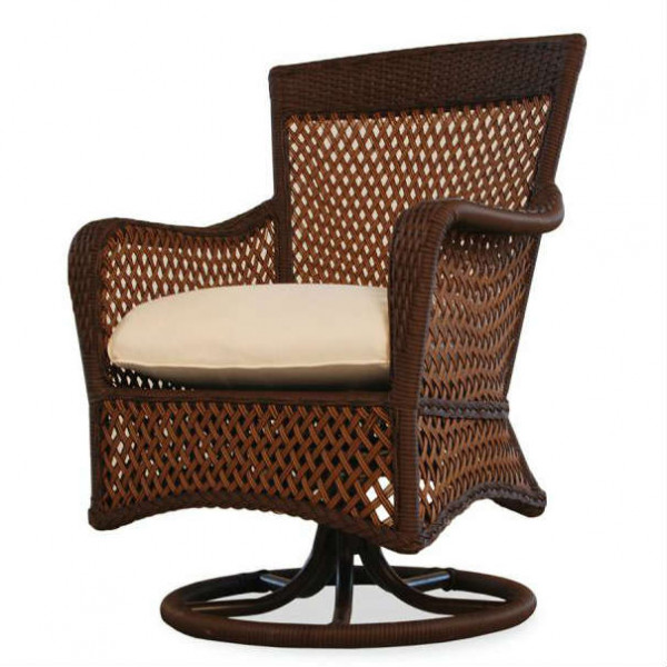 Lloyd Flanders Grand Traverse Wicker Swivel Dining Chair