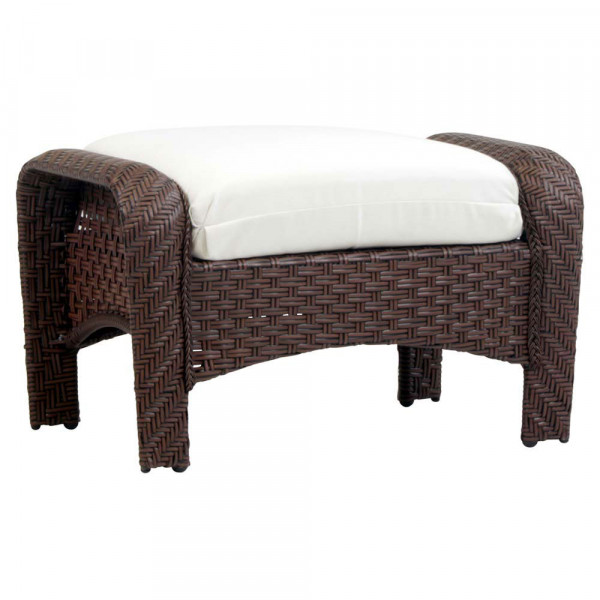 South Sea Rattan Martinique Wicker Ottoman
