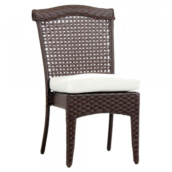 South Sea Rattan Martinique Armless Wicker Dining Chair