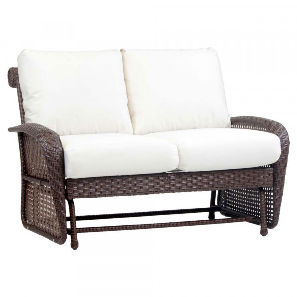 South Sea Rattan Martinique Wicker Loveseat Glider