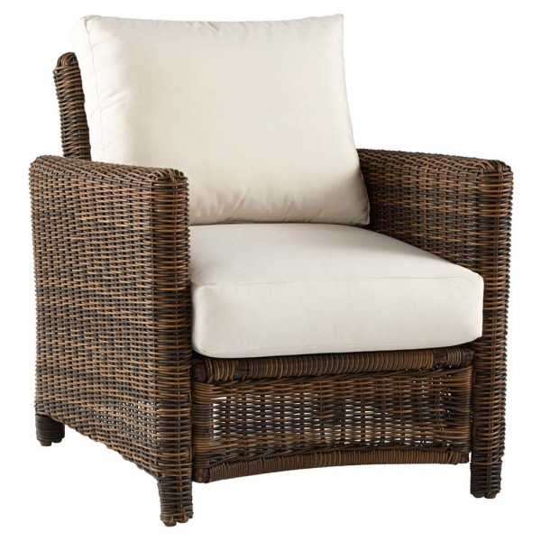 South Sea Rattan Del Ray Wicker Lounge Chair