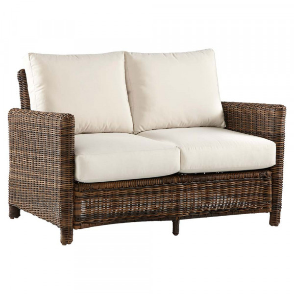 South Sea Rattan Del Ray Wicker Loveseat