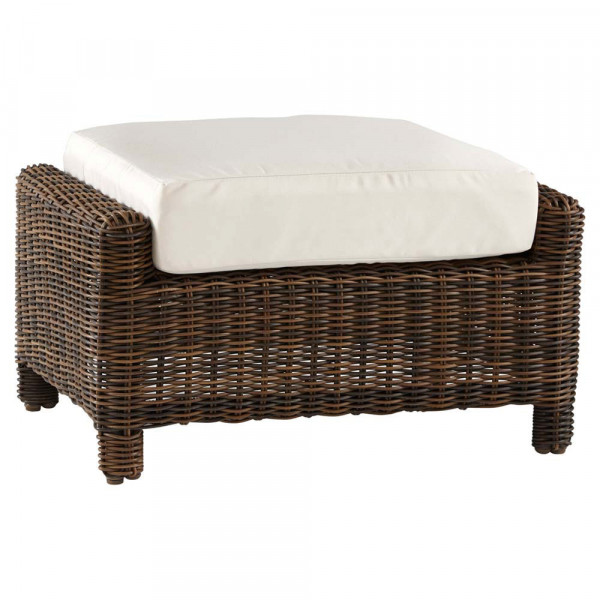 South Sea Rattan Del Ray Wicker Ottoman