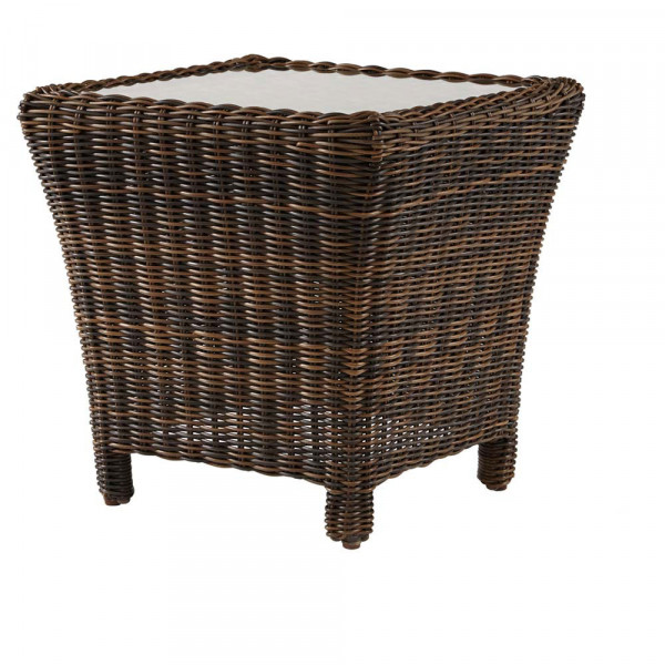 South Sea Rattan Del Ray Wicker End Table