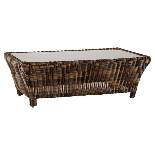South Sea Rattan Del Ray Rectangular Wicker Coffee Table