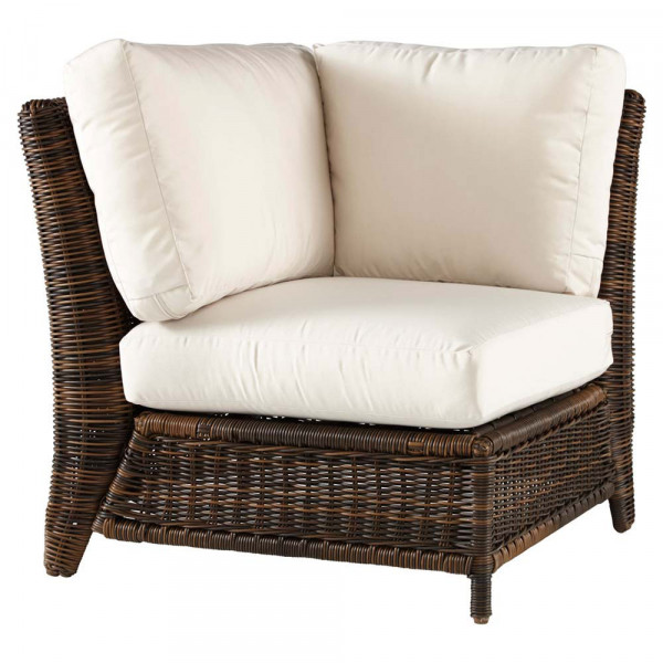 South Sea Rattan Del Ray Wicker Corner Chair