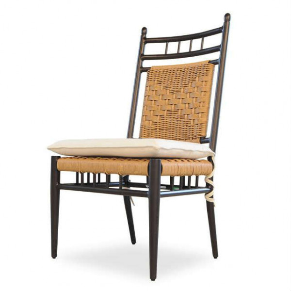 Lloyd Flanders Low Country Armless Wicker Dining Chair - Replacement Cushion