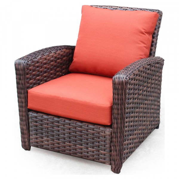 South Sea Rattan Huntington Wicker Lounge Chair