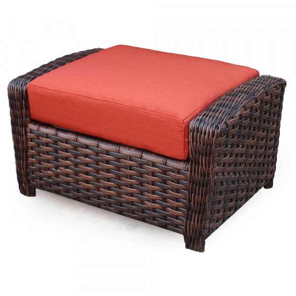 South Sea Rattan Huntington Wicker Ottoman