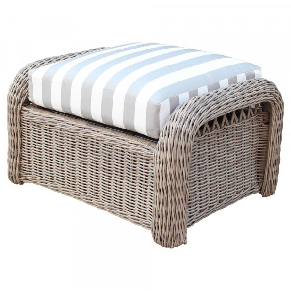 South Sea Rattan Arcadia Wicker Ottoman