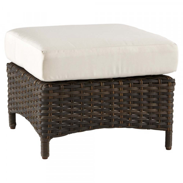 South Sea Rattan Panama Wicker Ottoman
