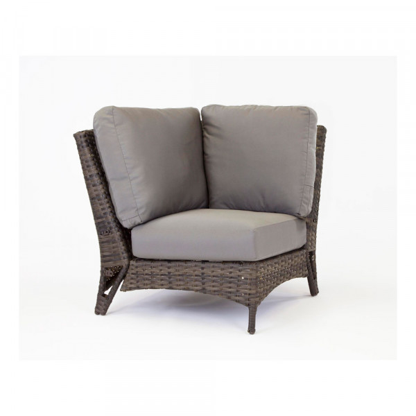 South Sea Rattan Panama Wicker Corner Chair