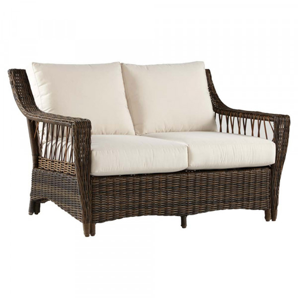 South Sea Rattan Saint John Wicker Loveseat